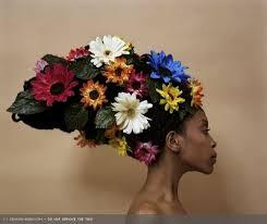 flowered pancake hat